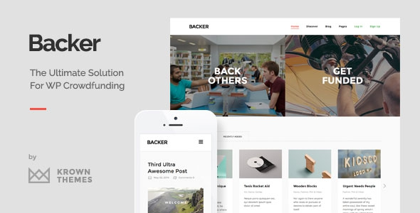 Backer v1.3.8 – The Modern WordPress Crowdfunding Theme