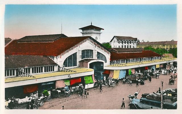 SAIGON 1950s - Chợ Bến Thành mặt phía Phan Châu Trinh