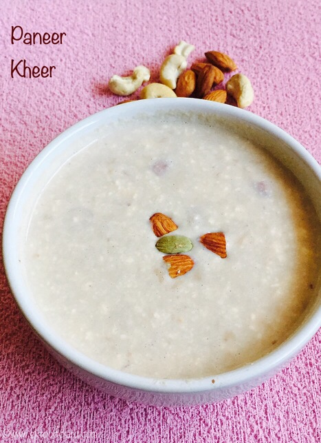 Paneer Kheer Recipe for Toddlers and Kids3