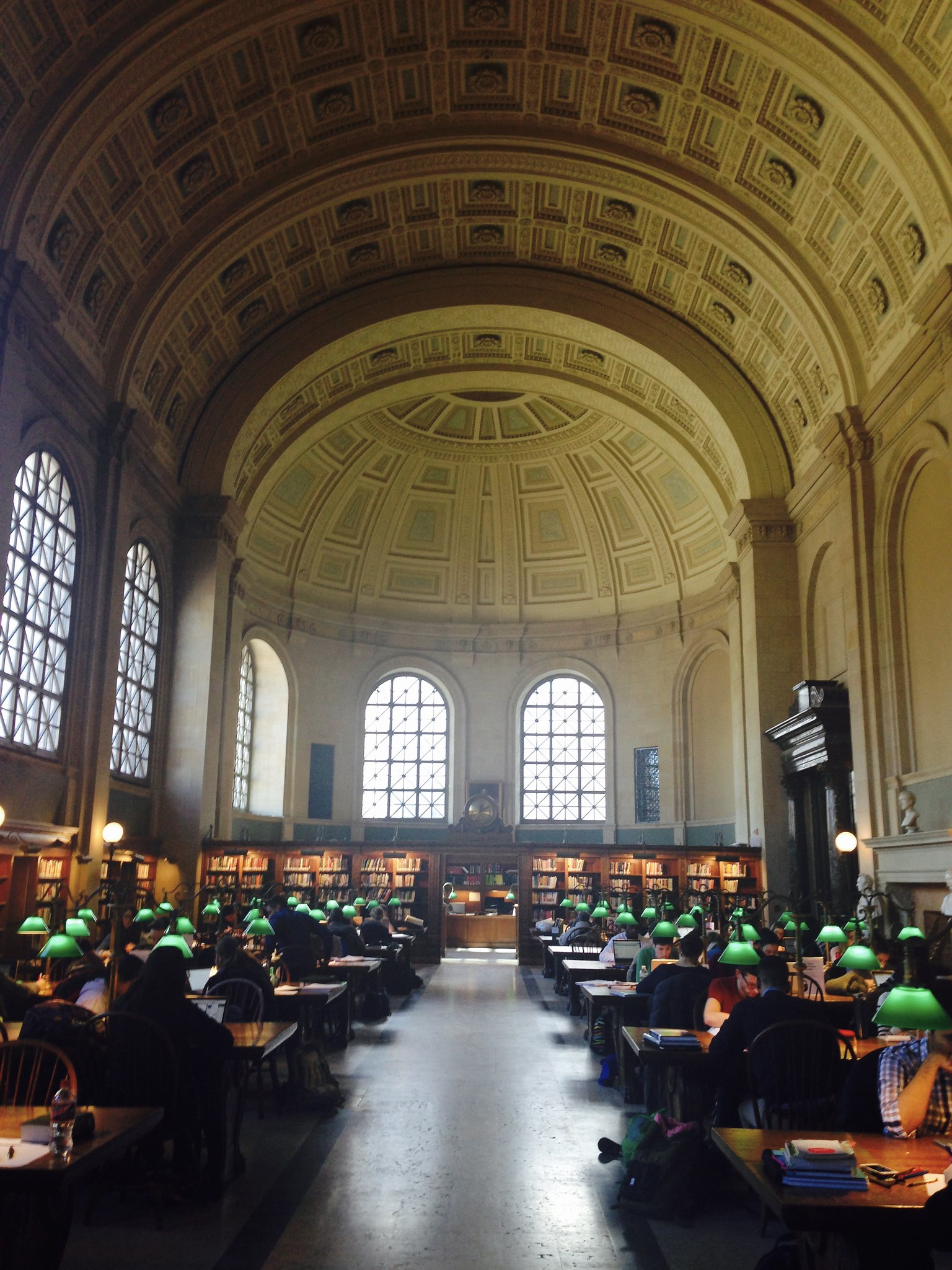View of Work Today - Boston Public Library Bates Reading Room