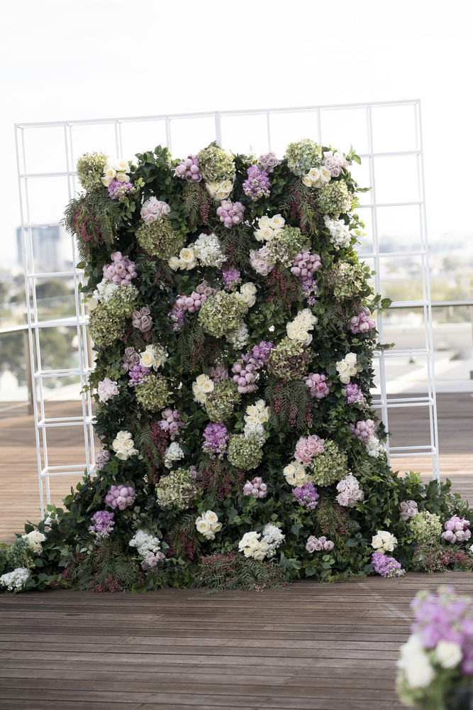 Lilac and greenery wedding backdrop for a glamour Wedding in Melbourne | Photo by Blumenthal Photography. | I take you - UK wedding blog #elegantwedding