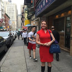 Red is the colour of fortune in Chinatown as in China. Avec @sallyhogshead for soup dumplings. We live in interesting times. #Chinatown #chinatownnyc #dumplings #nyc #fascinating