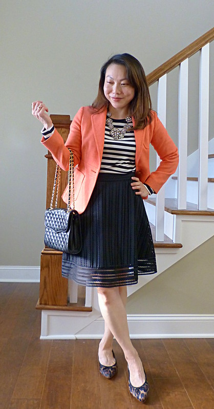 black stripes + pink