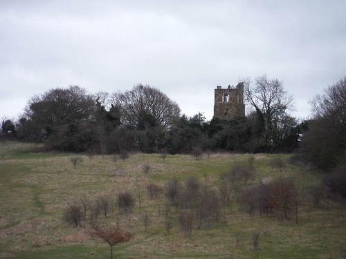 Old St. Mary's Church, Clophill, from across the field