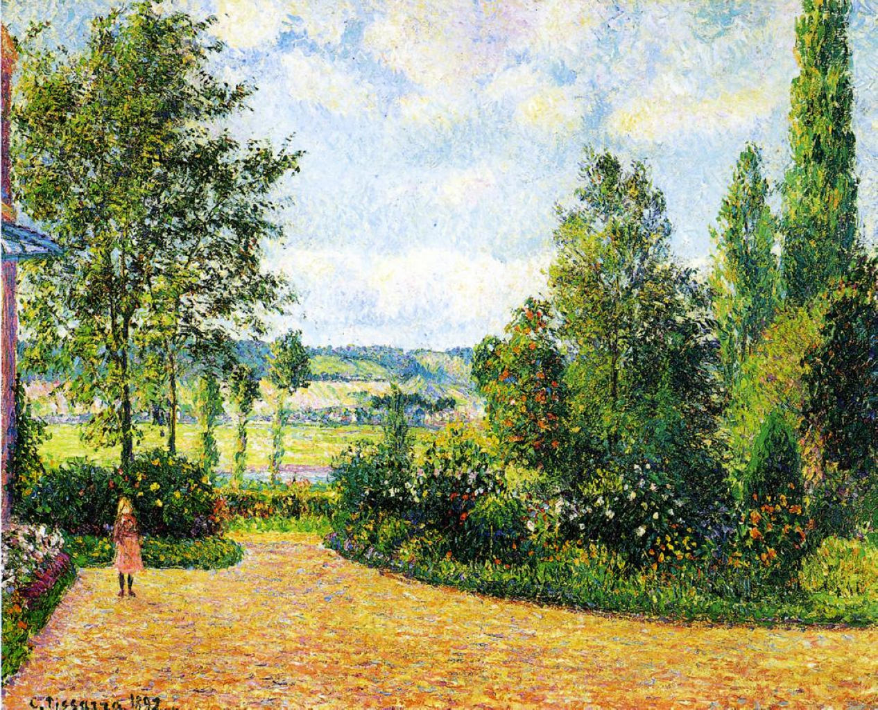 Mirbeau's Garden, the Terrace by Camille Pissarro, 1892