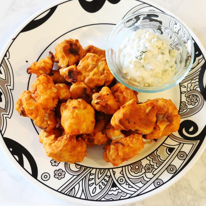 cauliflower buffalo wings recipe, bleu cheese dip, cooking, healthy eating