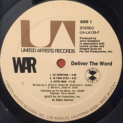 WAR:DELIVER THE WORLD(LABEL SIDE-A)