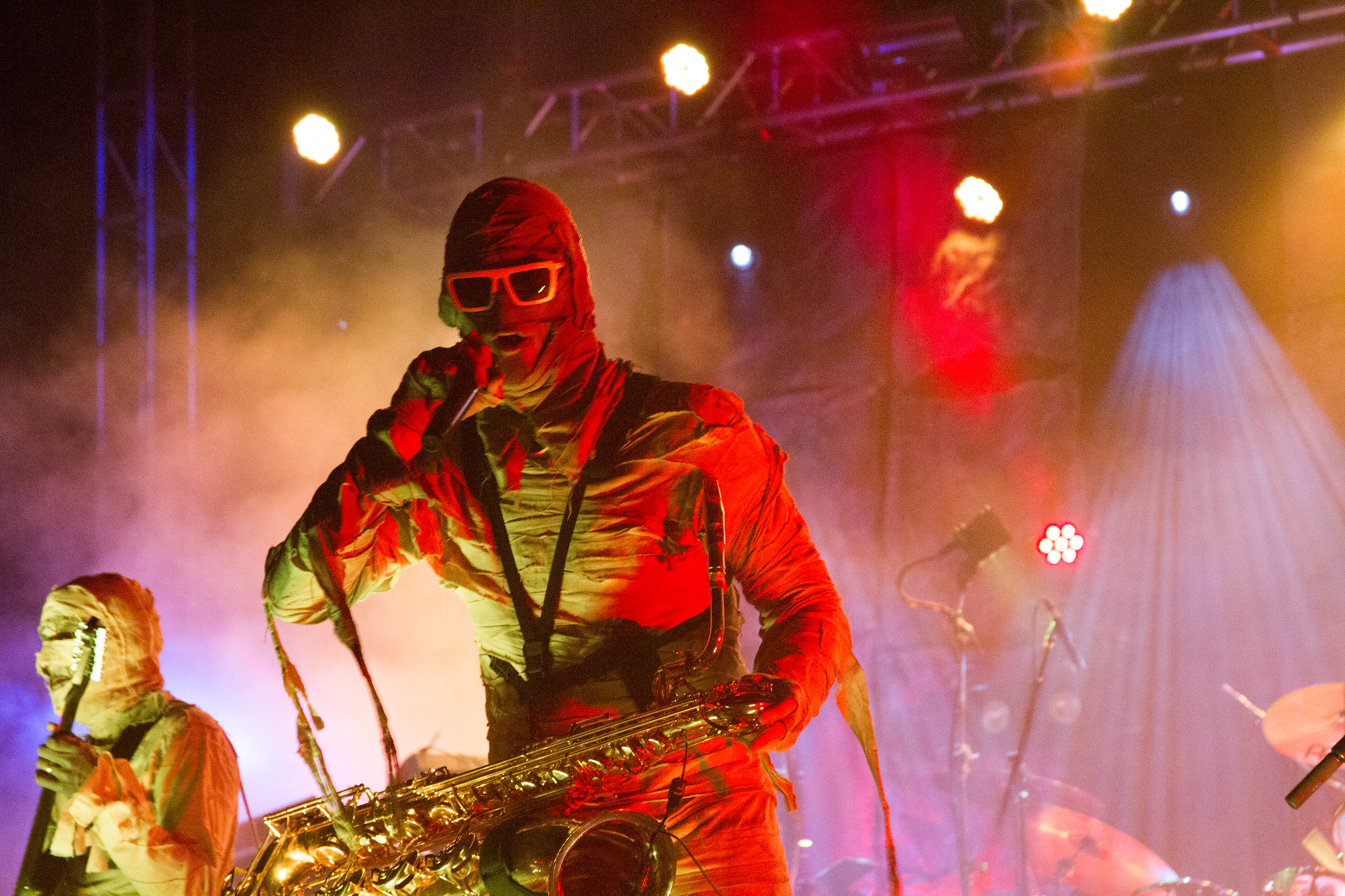Here Come the Mummies Performing During Funk Fest 7 in Punta Gorda, Fla., March 5, 2016