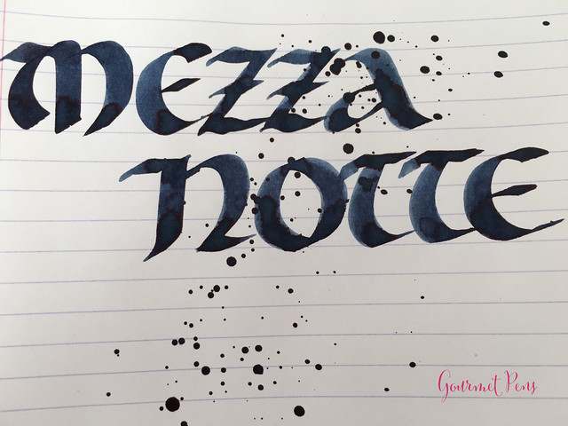 Ink Shot Review Goldpen Mezzanotte Blue-Black (7)