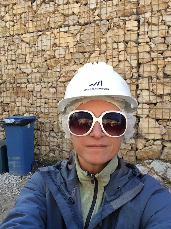 Lookin' stylish for our archeological tour in Atapuerca