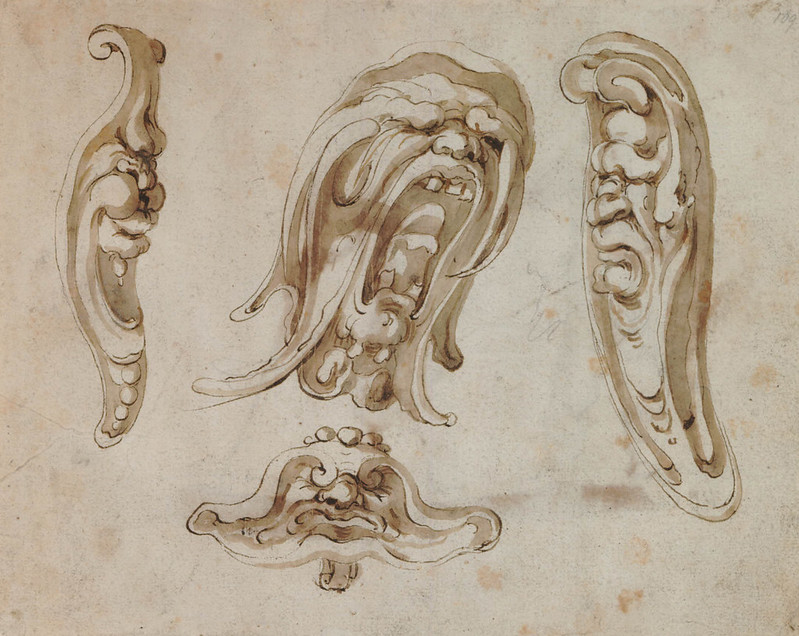 Arent van Bolten - Monster 109, from collection of 425 drawings, 1588-1633