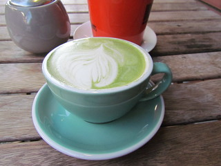 Matcha Soy Latte at Flora and Fauna