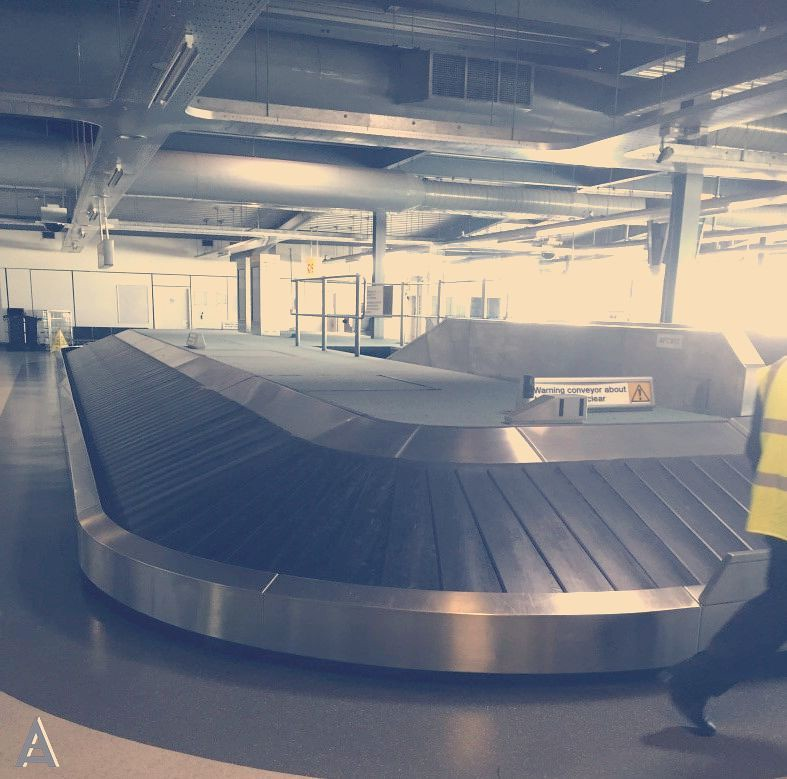 conveyor belt at airport