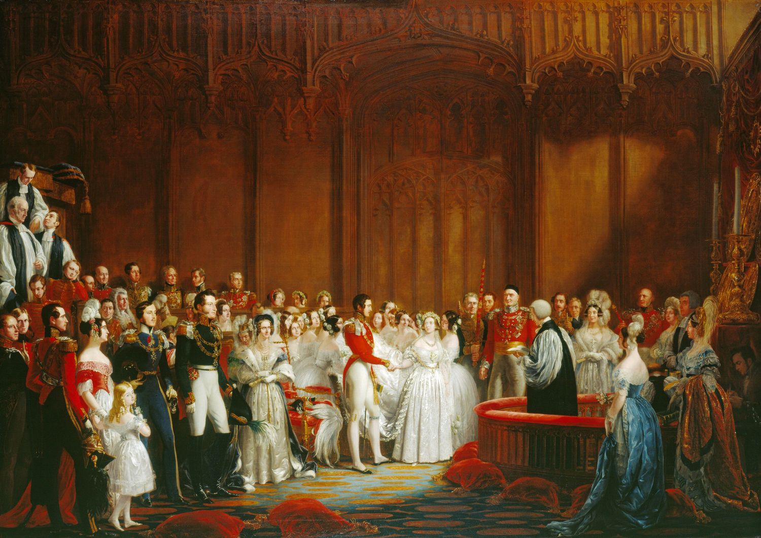 The Marriage of Queen Victoria, 10 February 1840 by George Hayter