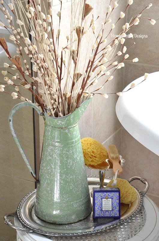 Master Bathroom/French Enamelware Pitcher - Housepitality Designs
