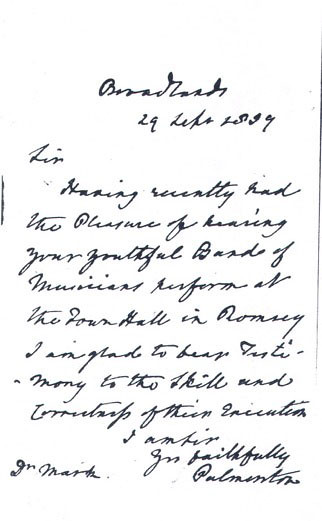 PALMERSTONS LETTER