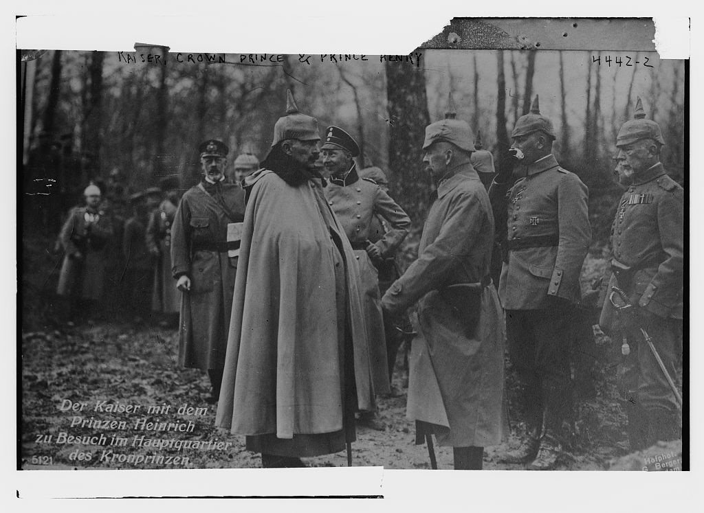 Kaiser, Crown Prince & Prince Henry (LOC)