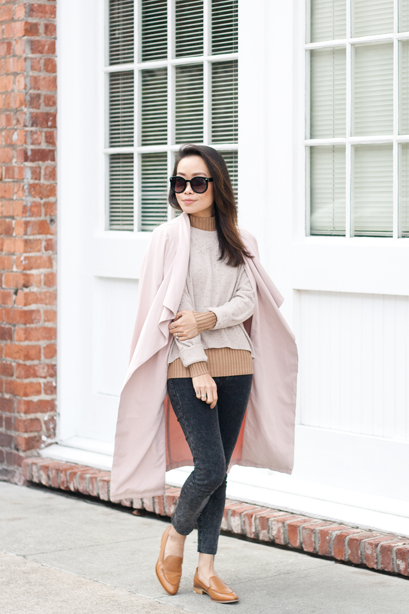 04-everlane-cashmere-sweater-pink-trench-loafers-sf-style-fashion