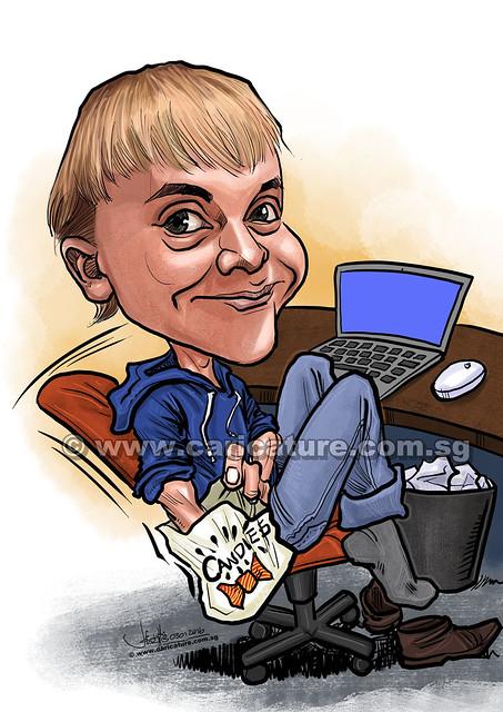 Nico Candies digital caricature for PropertyGuru (watermarked)