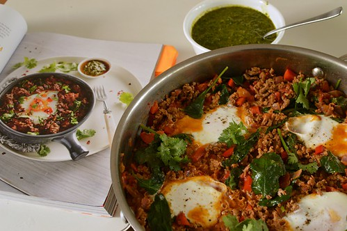Moroccan baked eggs with chermoula