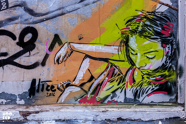Alice Pasquini Stencil Work, London