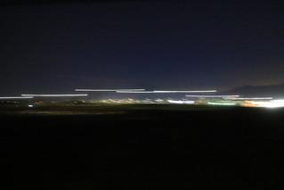 流れる夜景