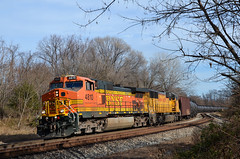 2015 11-27 1200.4 BNSF C44-9W-4810 W/B K-045 on CSX at Shenandoah Jct., WV