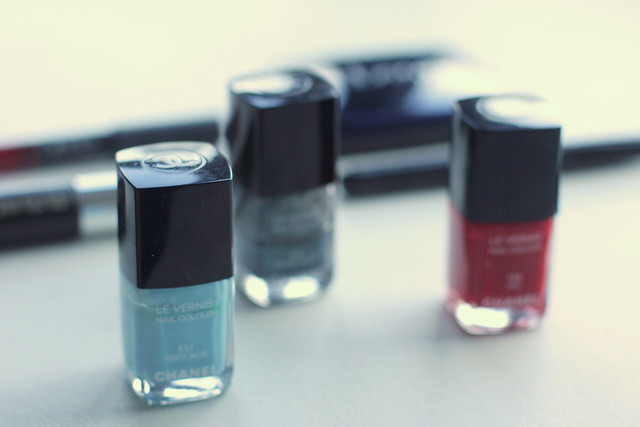 Chanel nail polishes foreground by little luxurylist