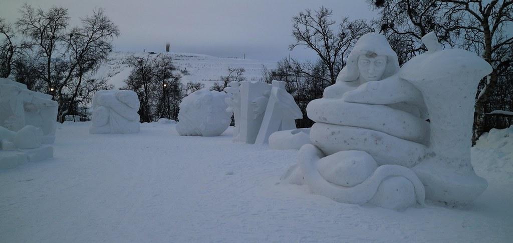 snöskulptur kiruna