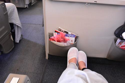 JALのパシネット席は足元広々