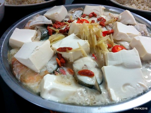Steamed Prawns with Tofu