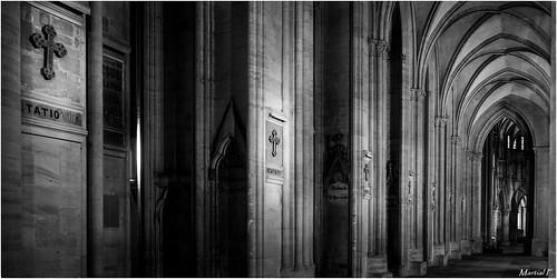 blackandwhite monochrome cathedral noiretblanc dom interior cathédrale monochrom normandy manche intérieur normadie coutances
