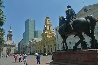 Santiago - Plaza de Armas old and new
