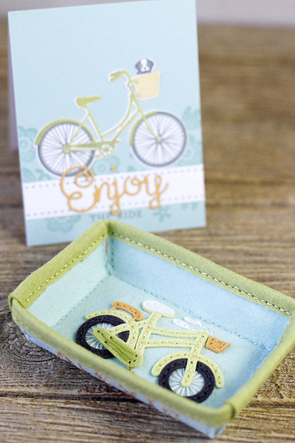 Stitched Rectangle Tray and Stitched Bicycle by Papertrey Ink