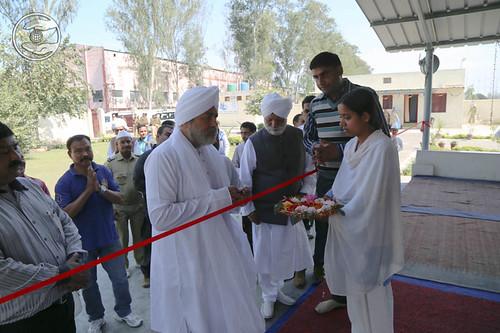 Inauguration newly constructed Satsang Bhawan at Gurukul