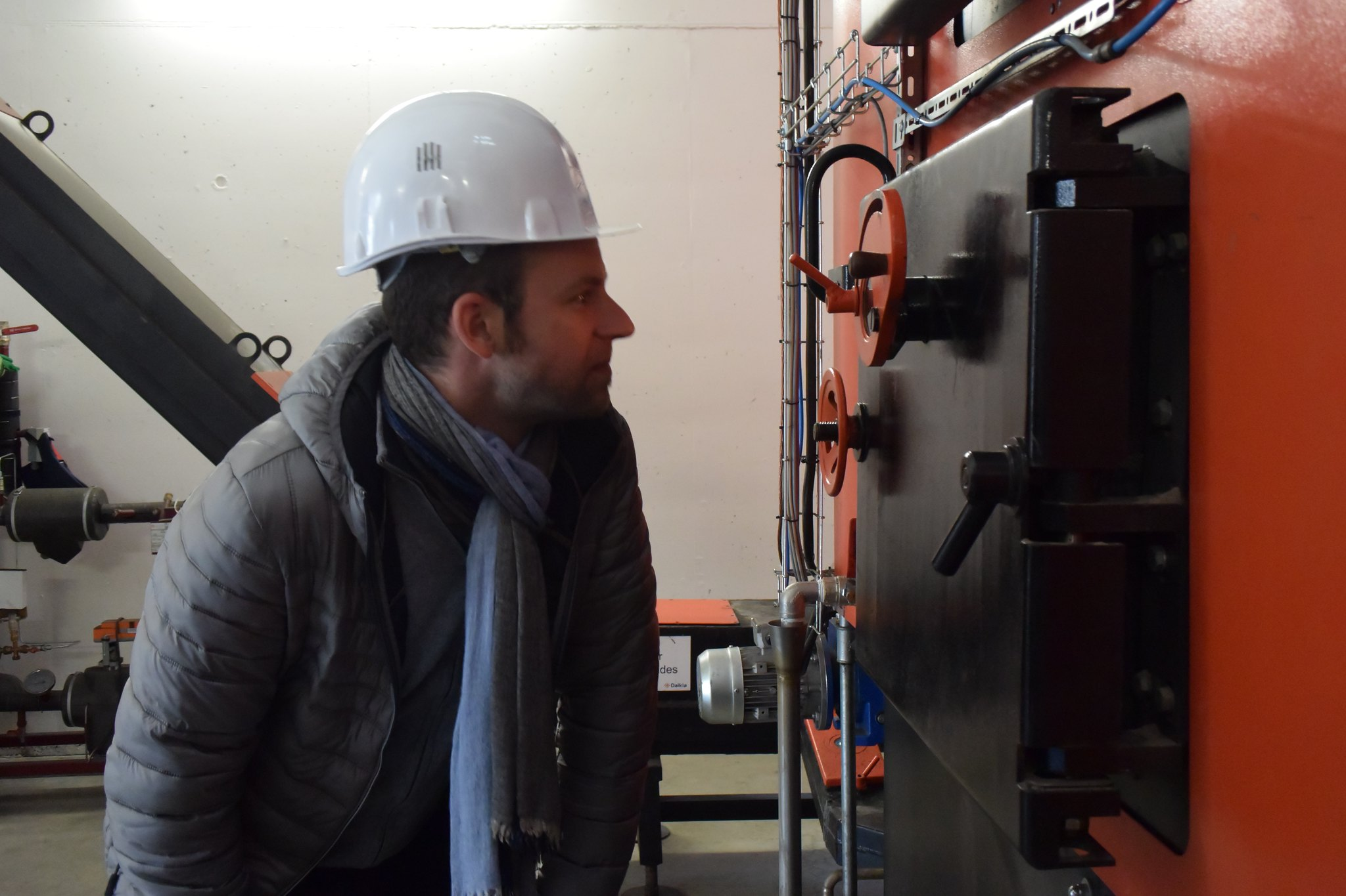Visite chaufferie bois du Cheylard - 5 à 7 de l'éco-construction - 22 mars 2016