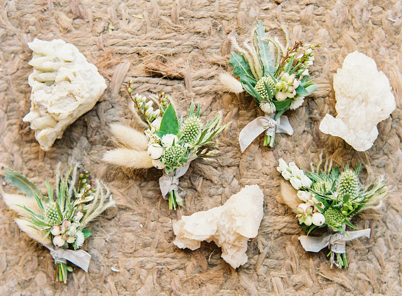 Boutonnieres | Rustic Romance wedding in Texas