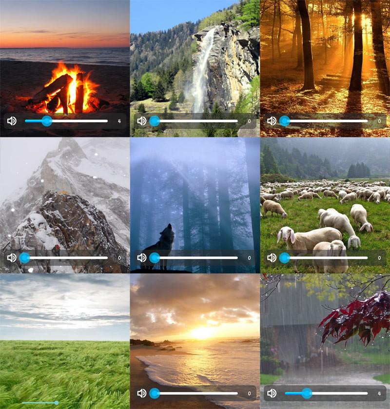 Relaxing,Calming,舒眠,舒緩情緒,APP,大自然的聲音,Nature sounds,風聲,雨聲,水聲,流水聲,鳥叫聲,鐘聲,蟲鳴,蛙鳴,鳥鳴,營火,雷聲
