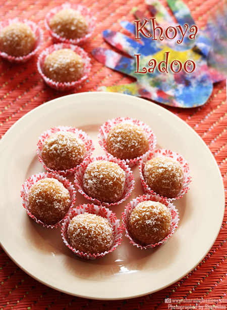 Khoya Coconut Ladoo Recipe