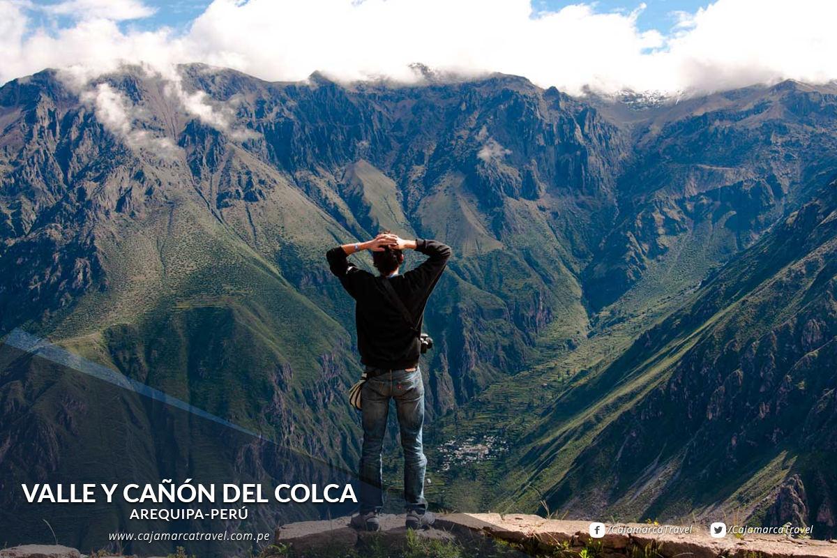 El impresionante Valle de Colca, desde donde se puede admirar de cerca el vuelo majestuoso del cóndor.