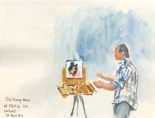 Sketch of Jove Wang demo at Plein Air Convention, Tucson, Arizona