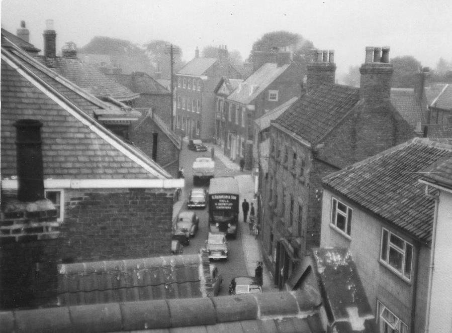 Lairgate, Beverley, from the rooftops 1957 (archive ref PH-1-132)