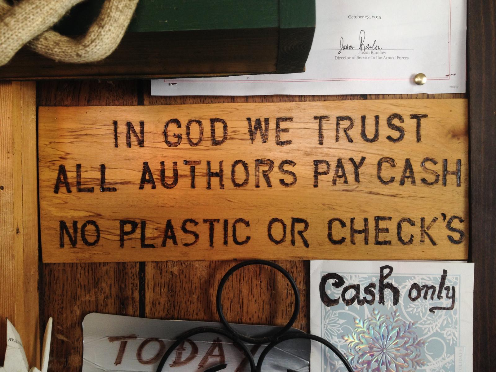 Authors Pay Cash