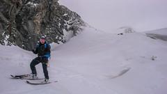 Zjazd z przełęczy Passo di Sasso Rosso 3504m. Albert.