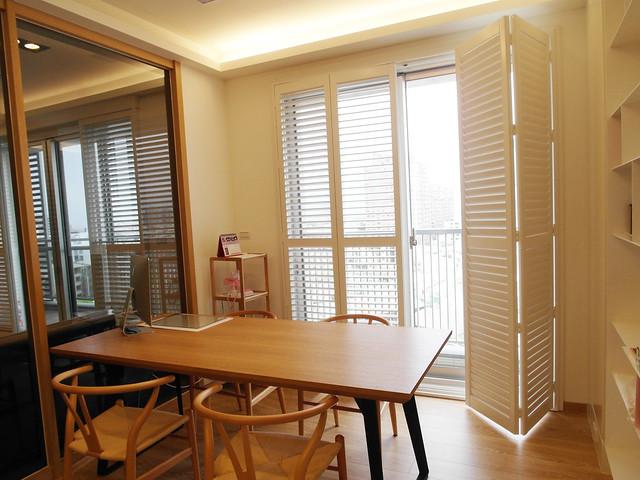 折門式的百葉窗,讓光照進來的程度可以自由發揮到最大@百麗樂豪華百葉窗Sunland Shutters