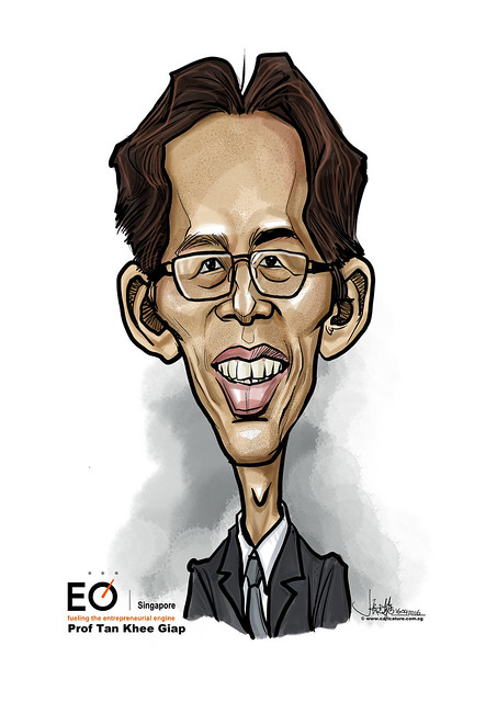 TAN Khee Giap digital caricature for EO SIngapore
