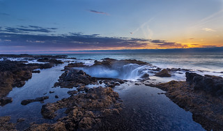 Thor's Well at sunset | by TeeJay_S