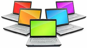 colorful computers
