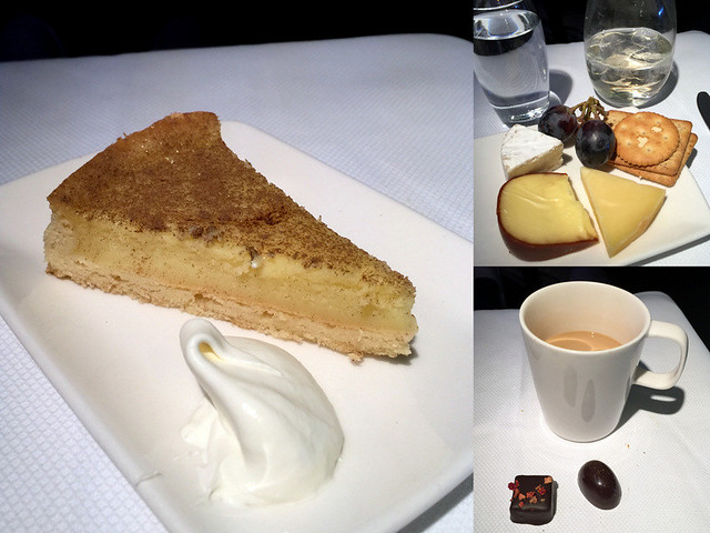 CX 748 JNB to HKG - Milk Tart, Cheese Plate, Coffee and Pralines
