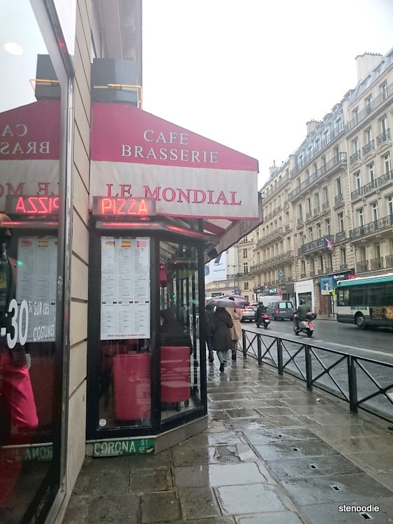 Side view of Le Mondial (Cafe Brasserie) restaurant